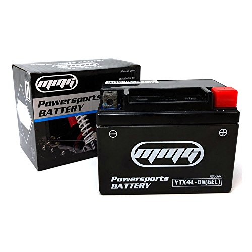 MMG YTX4L-BS GEL CELL High Performance sealed Battery - ATV TaoTao Cheetah TForce ATA 110cc and ATA 125cc - Atv Replacement Parts