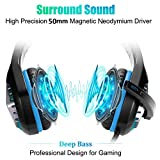 Pacrate Gaming Headset with Microphone for Laptop