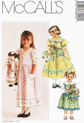 McCall's Pattern 8542 ~ Girl's Jumper, Blouse, Petticoat and Matching Clothes for 18