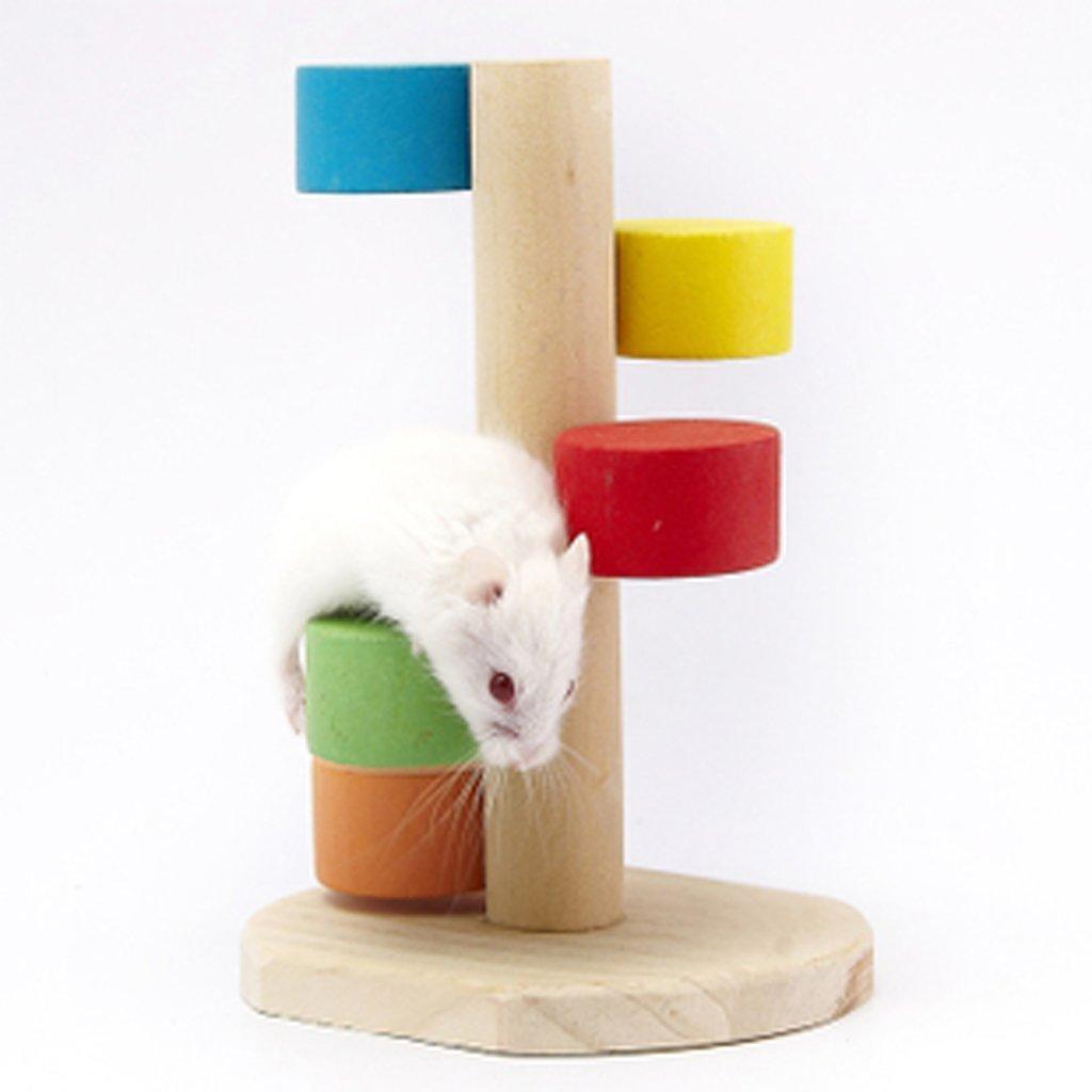 moonnot mascota hámster jugar juguete de madera escala escalera Colorful