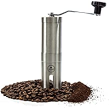EZE Hand Burr Coffee Grinder Most Consistent Hand Press, Ceramic Burr Manual Coffee Grinder Fits in Aeropress
