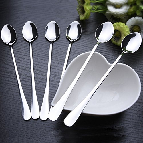1 Set  Long Stainless Steel Cocktail Spoons Professional Cof