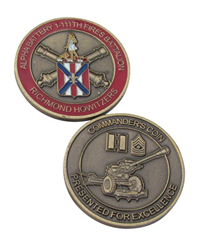 Alpha Battery 1-111th Fires Battalion Challenge Coin Battalion Challenge Coin