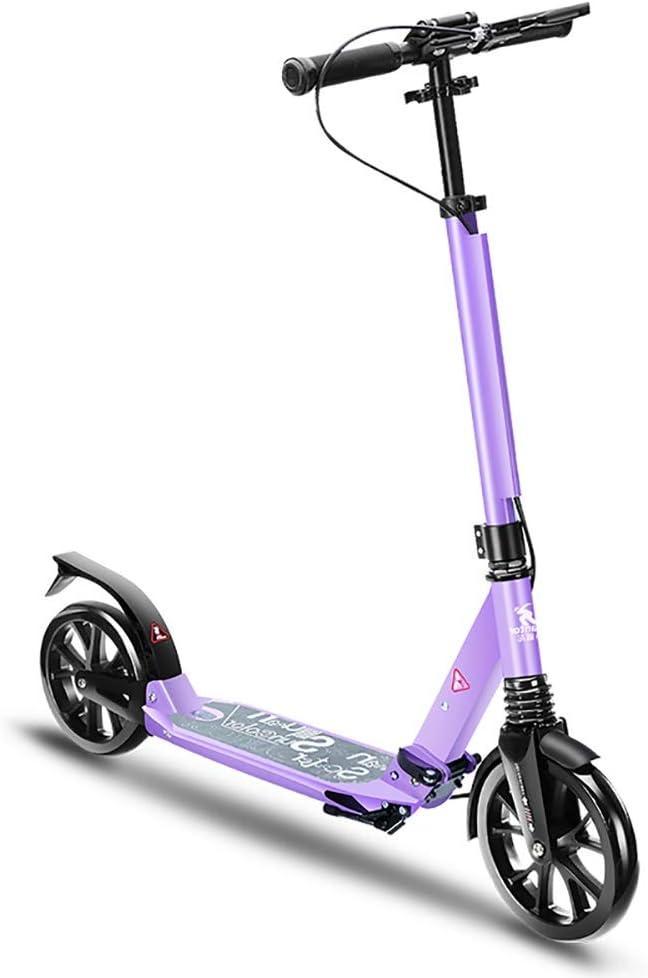 大人用 キックボード 大人のスクーターの高さ調節可能な非電気二重懸濁液、折りたたみ大人の蹴りのスクーターサポート100KG重量 (Color : Style2) Style2