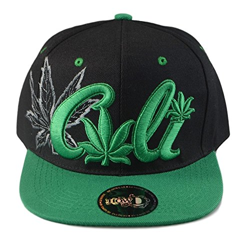 Mens Baseball Caps Marijuana Theme Embroidered Flat Bill Snapback Hats