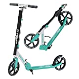 Apollo Big Wheel Scooter 200 mm - Phantom Pro Mint is a Luxury City Scooter, City Scooter Foldable and Height-Adjustable, Kickscooter for Adults and Children