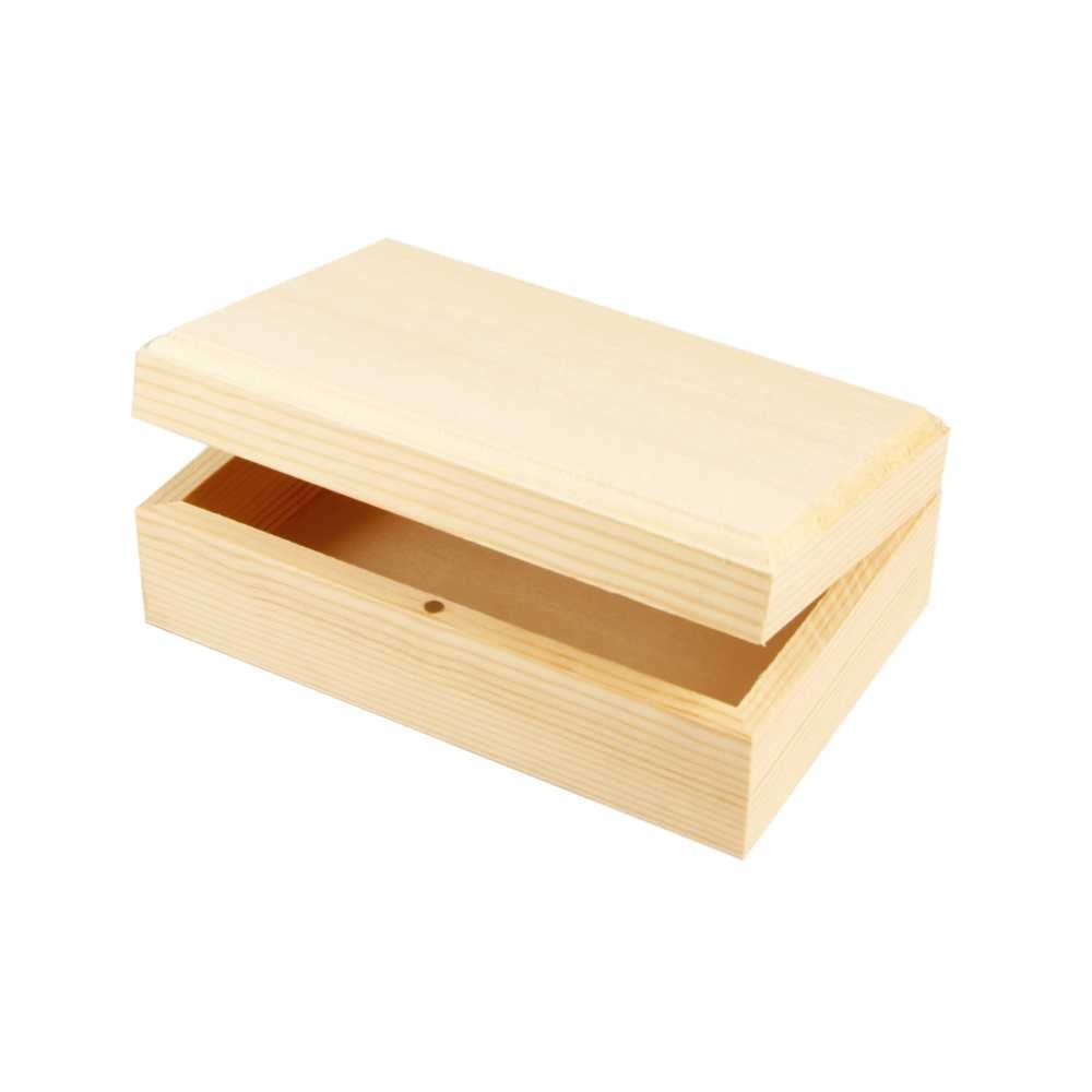 Creativ 1-Piece Wooden Jewellery Box Magnetic Catch Lift Up Lid 576300