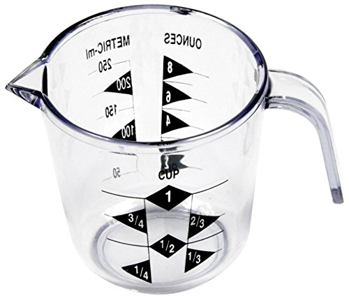 8 Ounce 1 Cup (Chef Craft 1-Cup Measuring Cup, Clear)