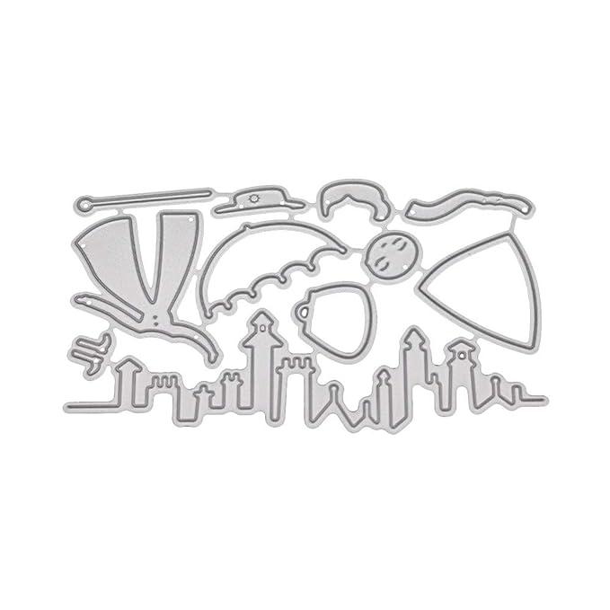 JiaMeng Troqueles Scrapbooking Domybest Troqueles de Corte de Metal de Corazš®n de Flor lbumes de Recortes de Tarjeta de Felicitaciš®n, Decoraciš®n para el ...
