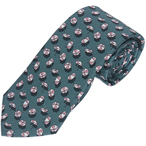 Gucci Parasol Patterned Beach Umbrella Men's Silk Tie 336...
