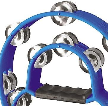 Stagg TAB-1 BL Tambourin en Plastique avec 20 Cymbalettes blue