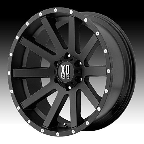 XD Series by KMC Wheels XD818 Heist Satin Black Wheel With Milled Flange (17x8