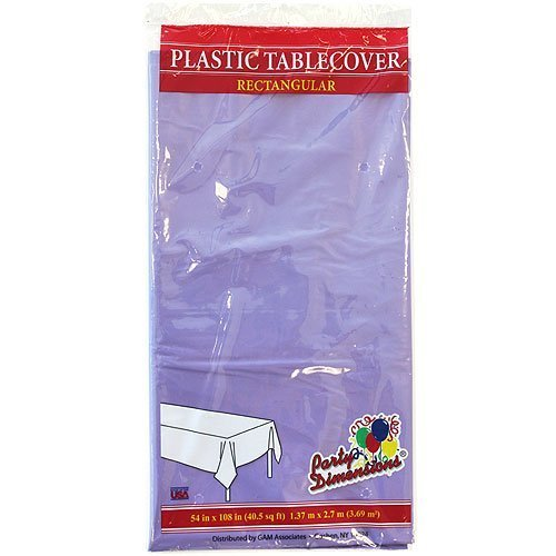 Plastic Party Tablecloths - Disposable, Rectangular Tablecovers - 4 Pack - Hydrangea - By Party Dimensions ()
