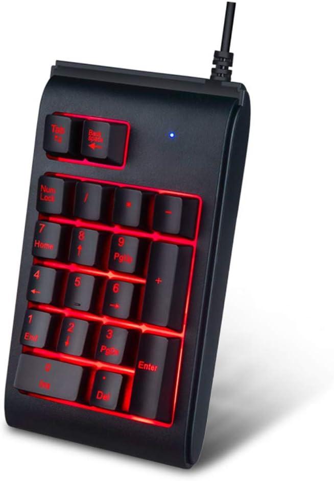 Black USB Plug and Play ZUEN Digital Keypad Matte Body Waterproof 19 Key Keypad