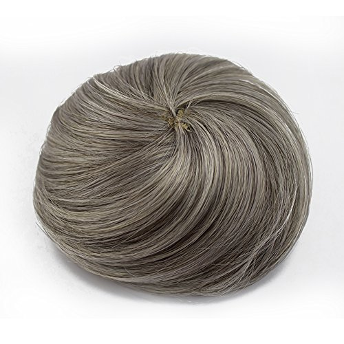 Wholesale MERRYLIGHT Synthetic Donut Hair Bun Extension Chignon Hairpiece (Grey white-M3/60) for cheap