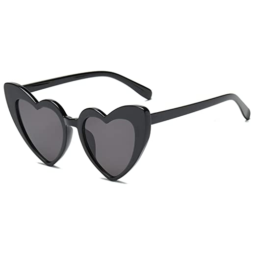 5c167ad9ca8 Heart-Shaped Sunglasses Women Vintga Black Pink Red Heart Shape Sun Glasses  (C1)