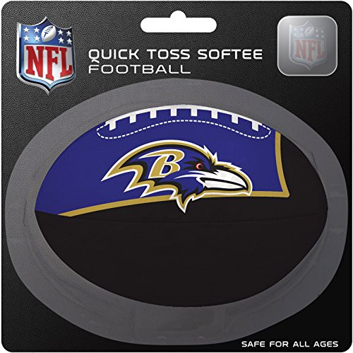 NFL Baltimore Ravens Kids Quick Toss Softee Football, Black, Small ()