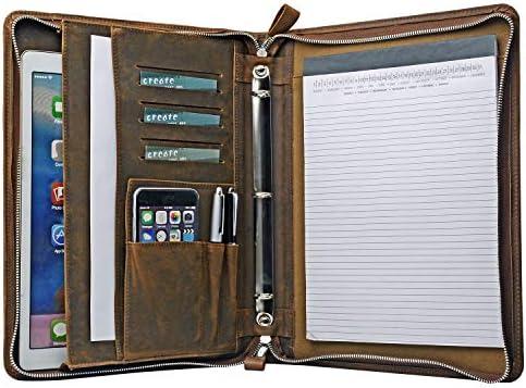 Leather Portfolio Padfolio 13 inch MacBook