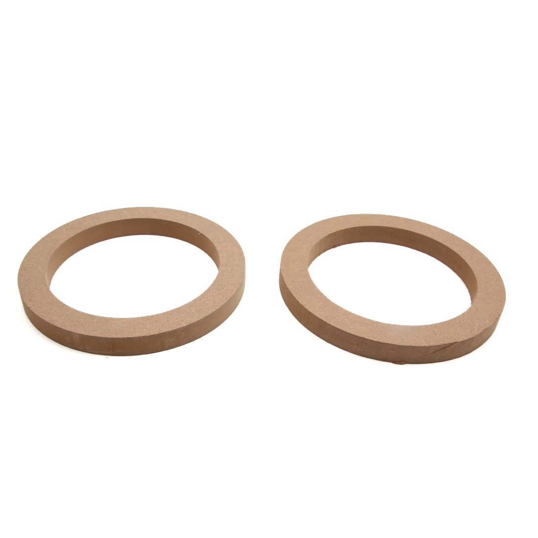 uxcell 2pcs Universal Brown 7.5'' Car Stereo Audio Speaker Mounting Spacer Rings Bracket