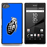 STPlus Grenade Bomb Hard Cover Case for Sony Xperia Z5 Compact (Royal blue)
