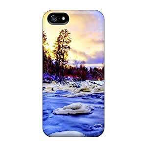 FLB2713WubQ Tpu Case Skin Protector For Iphone 5/5s Snowy Creek With Nice Appearance by icecream design