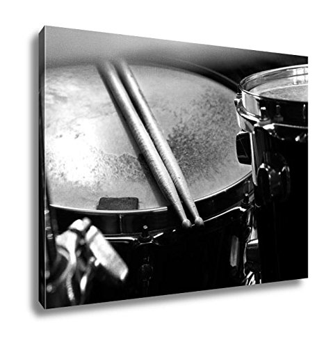 Ashley Canvas Music And Instrument, Wall Art Home Decor, Ready to Hang, Black/White, 16x20, AG6060871 - Concert Stage Cymbals