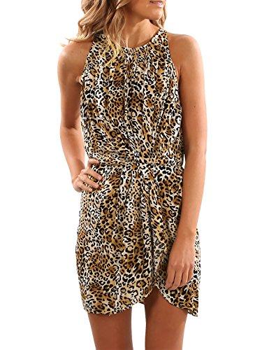 halter animal print dress - 2