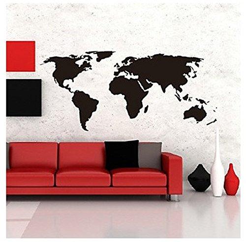 Big global world map atlas vinyl wall art decal wall sticker amazon big global world map atlas vinyl wall art decal wall sticker amazon home kitchen gumiabroncs Choice Image