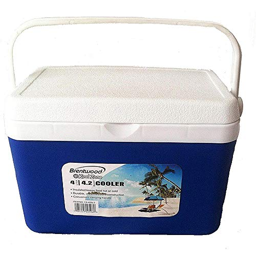 Brentwood. 4 Liter (4.2Qt) Cooler Box/Ice Chest Length : 4.50 (in.) Width : 9.75 (in.) Height : 7.50 (in.) ()