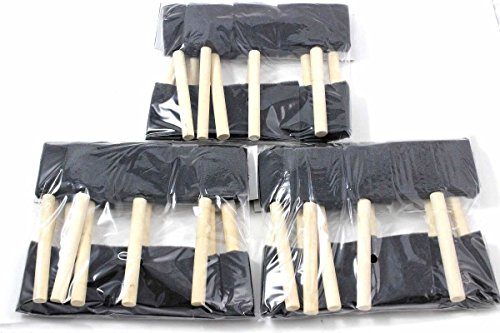 30 Pack Foam Brush Assortment Wood Handles Paint (Tools Foam Brushes)
