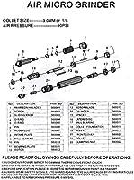 Saim 1//8 Micro Air Pencil Die Grinder Tool Pneumatic 3mm with Case,70000rpm