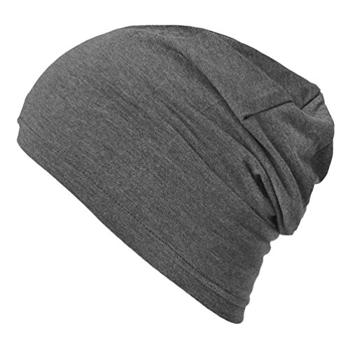 CasualBox Mens Thermal Stretch Sports Made in Japan Tight Beanie Hat (Knit Skull Cap Pattern)