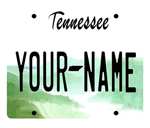 BleuReign(TM) Personalized Custom Name Tennessee License Plate State Square Refrigerator Fridge Magnet