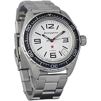 Vostok Komandirskie 200 WR Mechanical AUTO Self-winding Mens Military Wrist Watch #020716