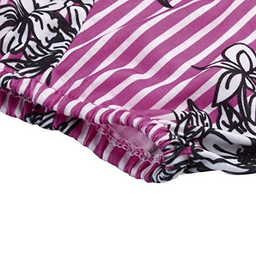 Blouse Chemisier 3 Haut Tops Manches Dcontracte Taille URSING Grande Simple Chemise T Femmes Shirt Chic Impression Jacquard Dames 4 Tops Tunique Violet Chemise en Vrac qwqvaRZt