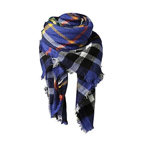 (Spring Fever Stylish Warm Blanket Scarf Gorgeous Wrap Shawl C Blue)