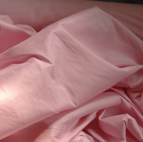 FAUX SILK DUPIONI FABRIC POLY DUPION PINK (BY THE YARD)