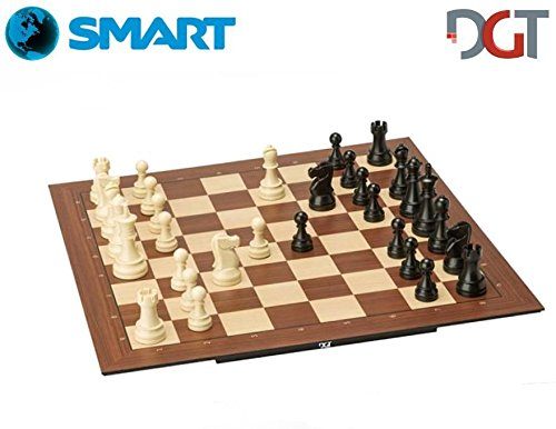 (DGT Smart Board WI + Plastic Weighted Pieces - Electronic Chess Set - WI)