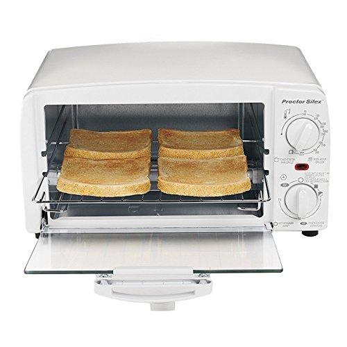 Proctor Silex 31116R 4-Slice Toaster Oven White