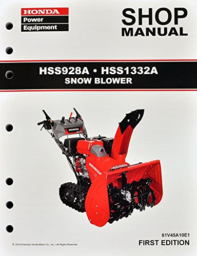 Honda HSS928 HSS1332 Snow Blow Throw Service Repair Shop Manual (Snow Blower Repair Parts compare prices)