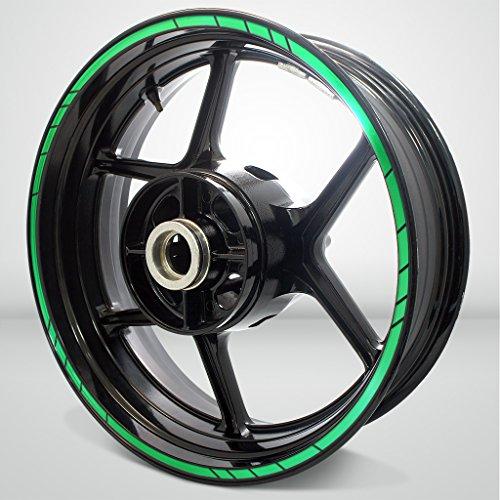 Speed Outer Rim Liner Stripe for Kawasaki Ninja 650 Reflective Green by Stickman Vinyls (Image #3)