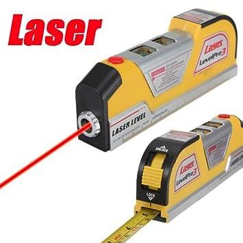 Profi Baulaser Laser Wasserwaage Wasser Waage Laserwaage mit Lineal Bandmaß TOP!