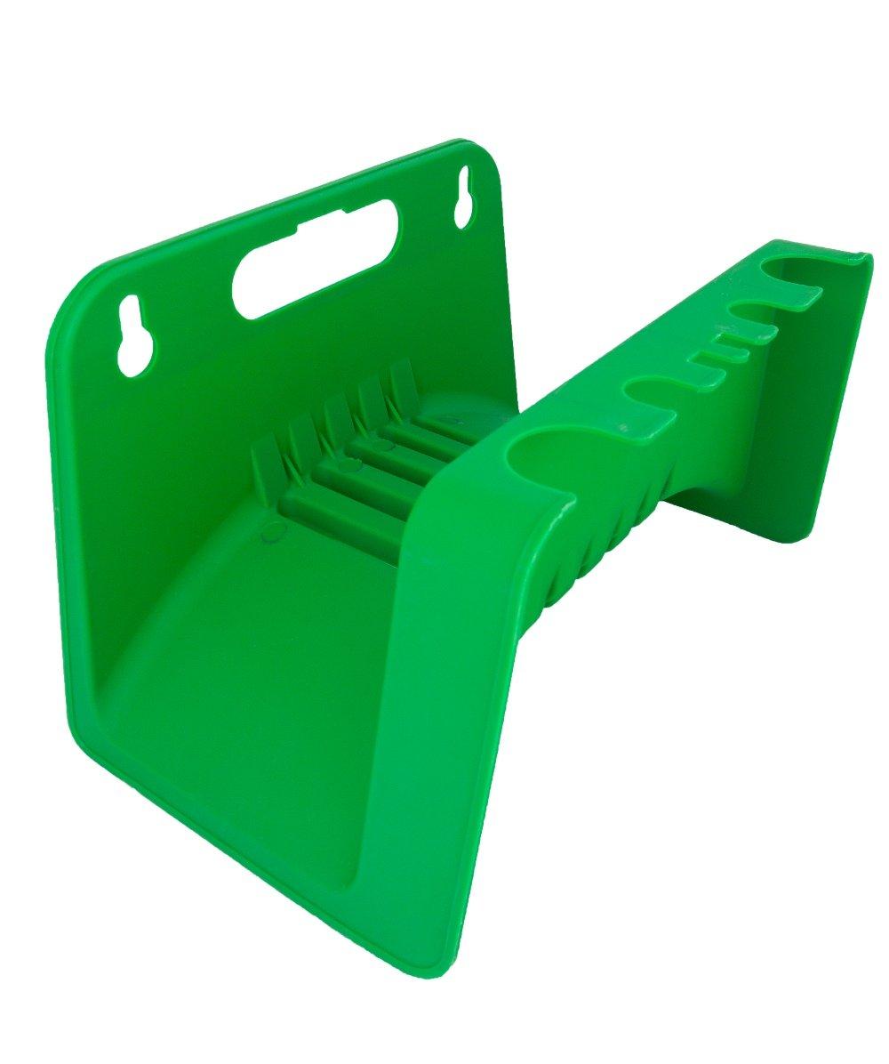 derClou24 Schlauchhalter Wandschlauchhalter aus Kunststoff stabile glasfaserverst/ärkte Ausf/ührung gr/ün