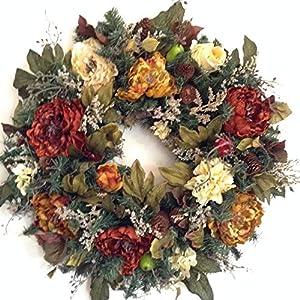 Fall Wreath, Copper Wreath, Beautiful door wreath, 24inch