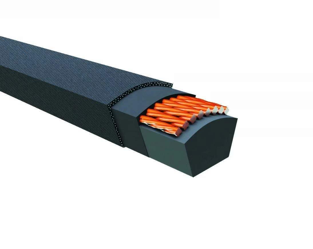 575mm Outside Circumference 10mm Width 8mm Height Rubber V-Belt Wrapped Black SPZ575La