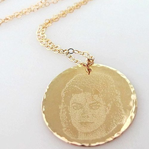 Amazon photo pendant necklace custom engraved picture photo pendant necklace custom engraved picture necklace personalized gold filled necklace custom face aloadofball Choice Image