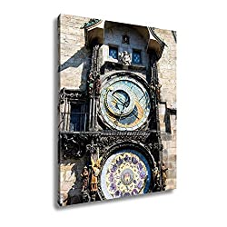 Ashley Canvas Prague Astronomical Clock in The Old Town of Prague, Wall Art Home Decor, Ready to Hang, Color, 20x16, AG6570394