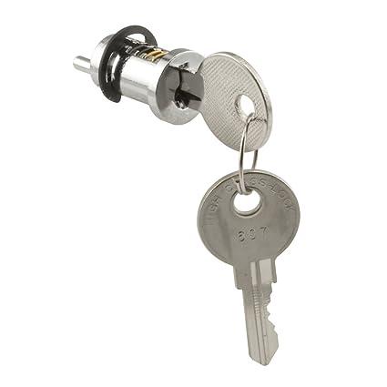 Prime Line Products E 2087 Sliding Door Cylinder Lock, 1 1/8