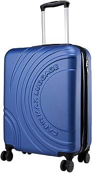 BA Approuv/é par Voli Ryanair Cabin Max Velocity Valise /à 4 Roues Rigide Ultra L/ég/ère  Valise Bagage de Cabine en ABS Solide 55x40x20 avec Zip Extensible /à 55x40x25 EasyJet Blanc Polaire