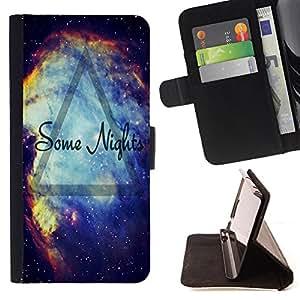 - Some Nigths Universe Nebula Space meteor/ Personalizada del estilo del dise???¡Ào de la PU Caso de encargo del cuero del tir????n del soporte d - Cao - For Samsung Galaxy S6 EDGE